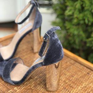 7e64bc77ab8 Steve Madden Carrsonv Velvet Ankle Strap Heels